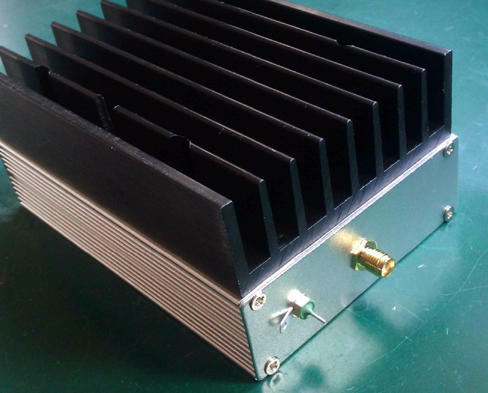 New 1MHz - 130MHz 6W 43dB ultra-wideband RF amplifier HF amplifier linear amplifier aiyima 42db 1mhz 800mhz 433mhz rf uvf linear power amplifier hf fm