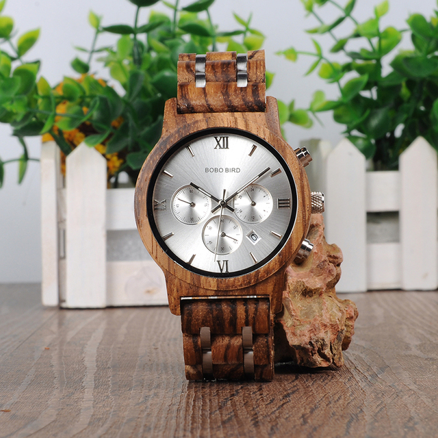 BOBO BIRD Men Wooden Watches New Special Wood and Metal Design Luxury Clock Wristwatches relogio masculino Timepieces B-P19