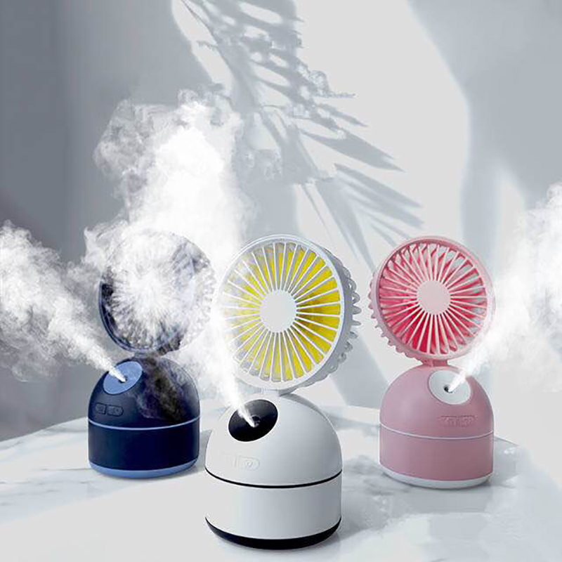 2000mAh Battery Operated Mini Fan 200ml Air Humidifier USB Rechargeable 8W 3 Speed Adjustable Mist Spray Fan Humidificador2000mAh Battery Operated Mini Fan 200ml Air Humidifier USB Rechargeable 8W 3 Speed Adjustable Mist Spray Fan Humidificador