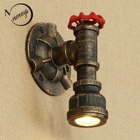 LED Loft Industrial Nordic style luminaire iron rust Water pipe retro wall lamp sconce lights for living room restaurant bedroom
