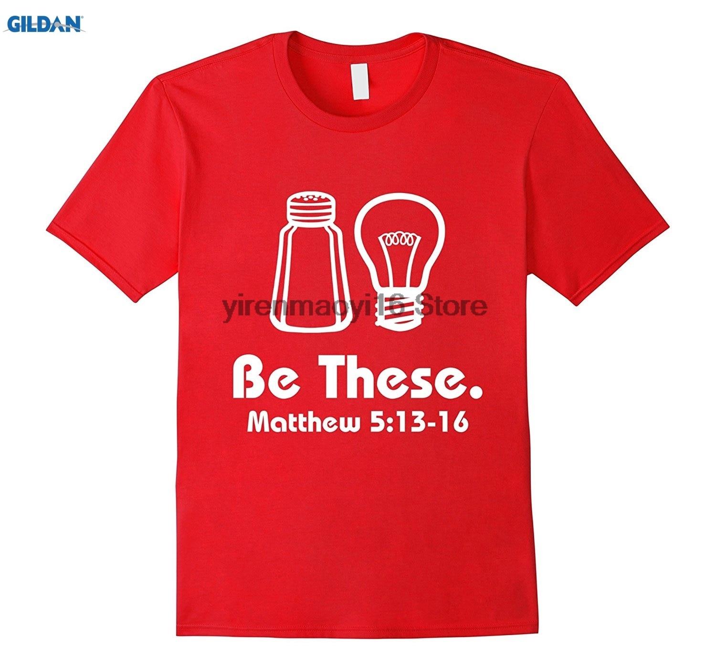 Возьмите 100% хлопок о-образным вырезом Футболка с принтом быть эти соль и Свет христианской Matthew 513-16 Футболки для женщин