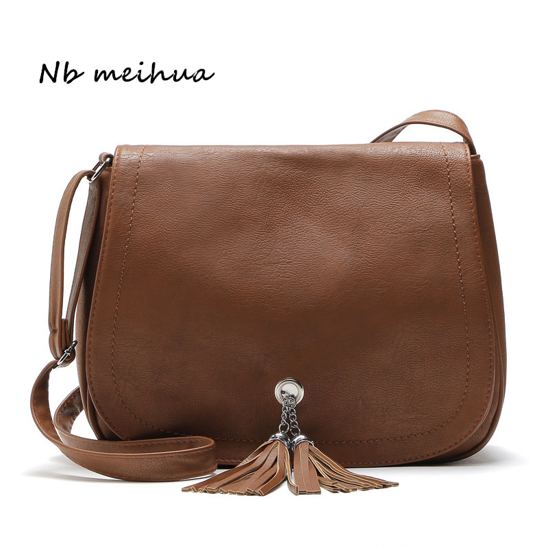 Women Bag Hot Sale Tassel Women Bag Leather Handbag Cross Body Shoulder Bag Fashion Messenger Bag Women Handbag Bolsas Femininas hot sale evening bag peach heart bag women pu leather handbag chain shoulder bag messenger bag fashion women s clutches xa1317b