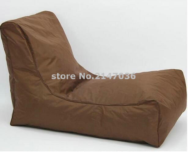 brown large bean bag banana giant indoor outdoor waterproof bags l shape cover only in living. Black Bedroom Furniture Sets. Home Design Ideas