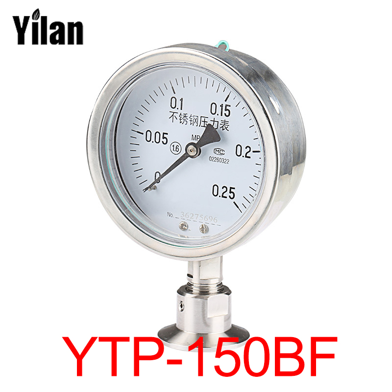 Diaphragm pressure gauge YTP150BF all stainless steel health food fast standard flange 50.5 fast food leisure fast food equipment stainless steel gas fryer 3l spanish churro maker machine