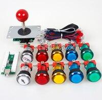 Arcade Control Panel 5Pin Joystick + 10 x LED Push Button + USB Encoder Board To Raspberry Pi Retropie 3 Model B Project DIY kit