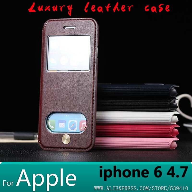 Чехол для iPhone <font><b>6</b></font> чехол Роскошный дизайн кожаный чехол для Apple iPhone <font><b>6</b></font> 4.7 телефона чехол + Защитные пленки подарок