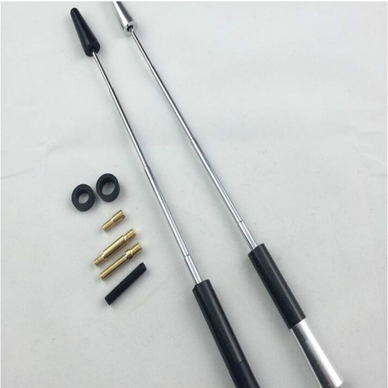 Adjustable Universal Silver Carbon Fiber Car Mast Screw Radio Aerial Antenna Kit