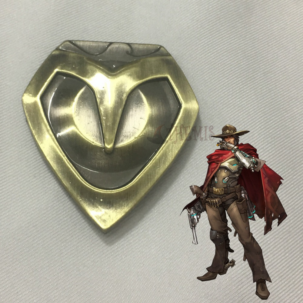 Athemis Watch Over Soldier 76 Cosplay Costume Jesse Mccree Cosplay Badge Brooch