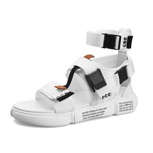 Image 4 - ZUNYU 2019, nueva moda de verano para hombre, zapatos de Gladiador, sandalias con plataforma abierta, sandalias de playa, botas, estilo romano, sandalias de lona para hombre