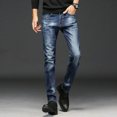 2018 verano nuevos pantalones vaqueros de los hombres versión coreana de la sección delgada Delgado pantalones simple moda Pantalones largos marea TWY