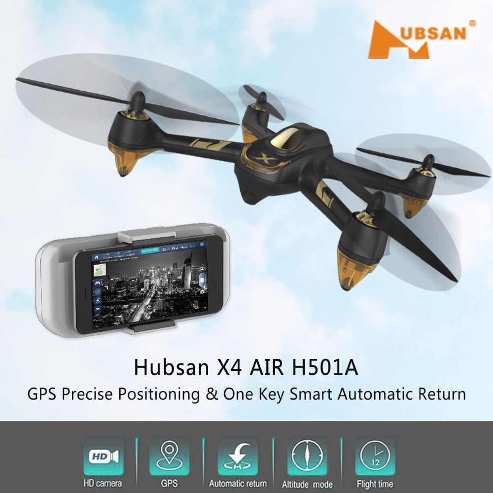 <font><b>Hubsan</b></font> X4 AIR <font><b>H501A</b></font> WIFI FPV Brushless With 1080P HD Camera GPS Waypoint RC Quadcopter RTF RC Helicopter Toys image