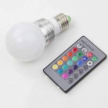AC85 265V RGB LED Lamba 3 W E27 E14 GU10 Led 16 renkli ampul Değiştirilebilir Lamba çoklu renk Uzaktan Kumanda ile Led aydınlatma