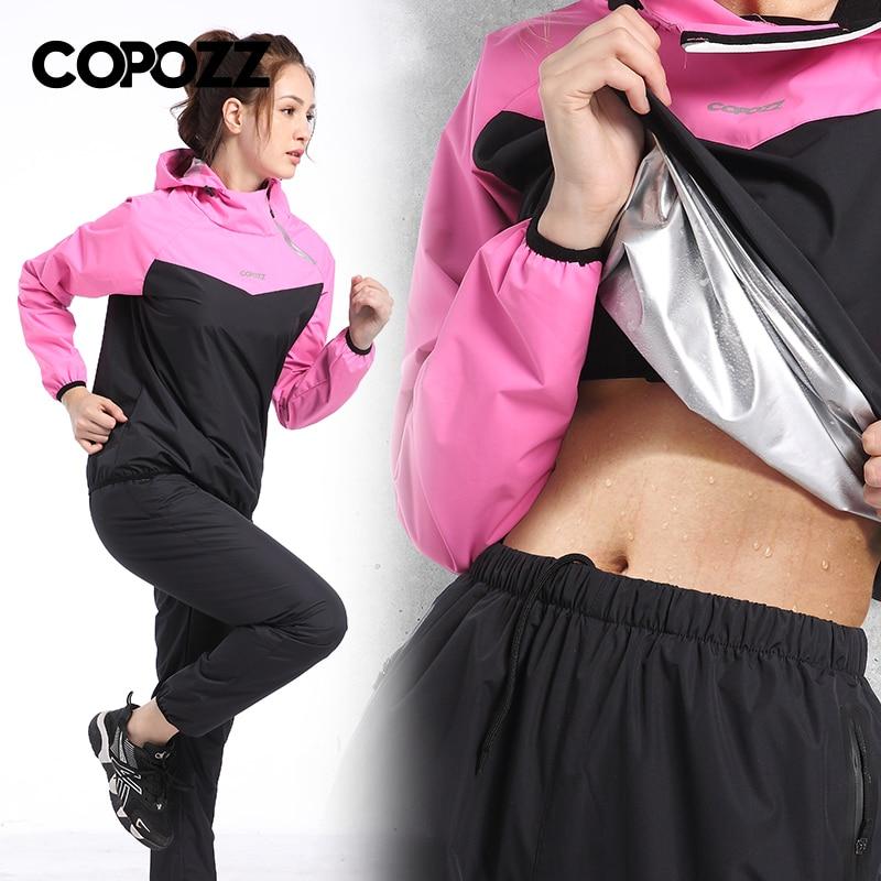 Jogging Sport femmes perte de poids mince Fitness ensembles de course Sauna Gym entraînement survêtements à capuche + pantalon 2 pièces ensembles Sweat costume 4XL