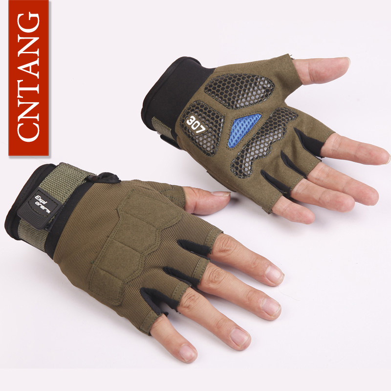 Outdoor Fitness Gloves: Fashion Tactical Gloves Men Half Finger Gym Weight Lifting