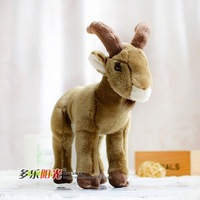 Plush Real Life Sheep Doll Big Horn Goat Toy Children Holiday Gifts Rare Toys Present