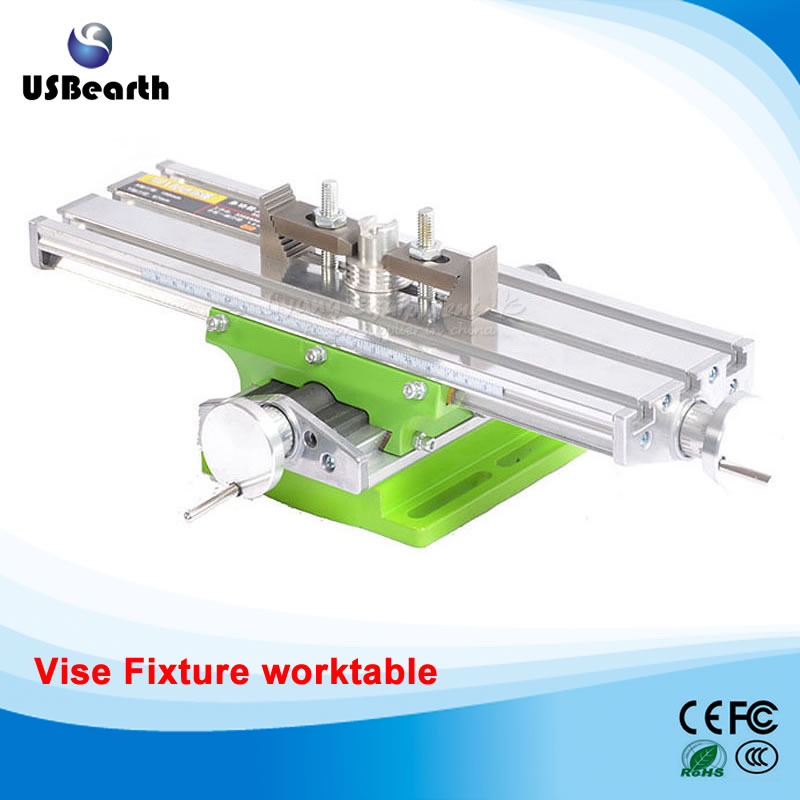 Miniature precision LY 6330 Milling Machine Bench drill Vise Fixture worktable X Y-axis adjustment Coordinate table