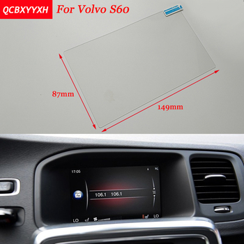 Car Sticker 7 Inch GPS Navigation Screen Steel Protective Film For Volvo S60 Control of LCD Screen Car Styling image
