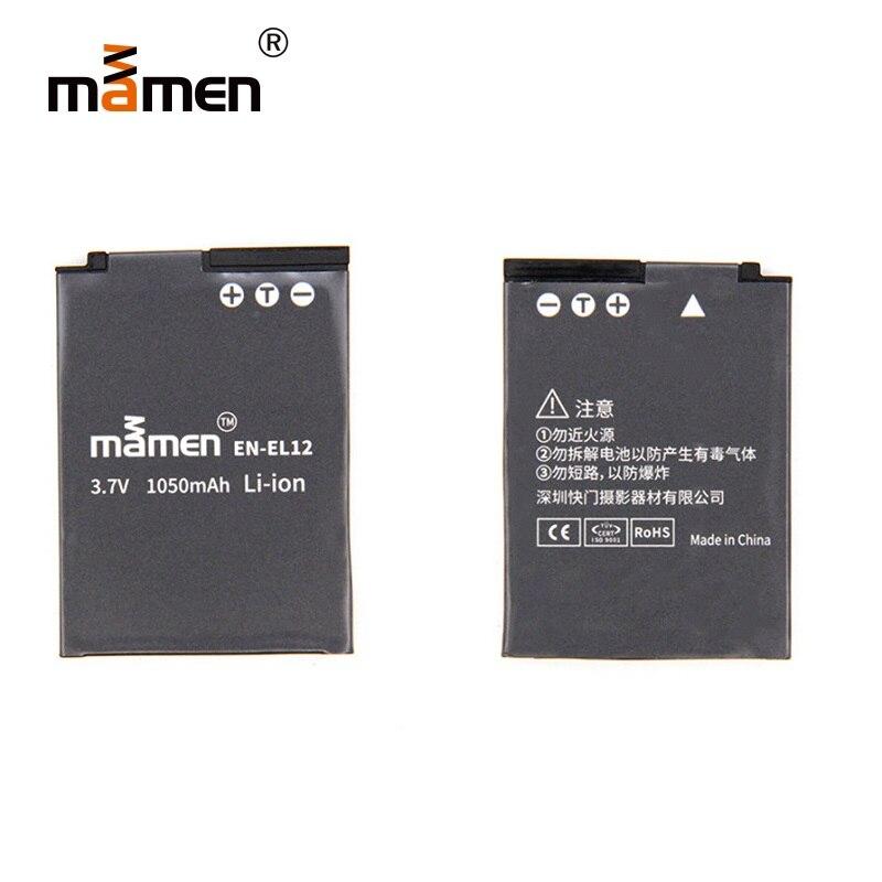 Mamen Camera Battery EN EL12 1050mAh Lithium Battery For Nikon Battery S610 S620 S630 S640 S710 S1000pj S1100pj S70 S6000 EL 12 зарядное устройство digital boy en el12 nikon coolpix s800c s610 s610c s710 en el12 battery charger