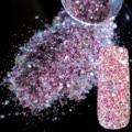 Репутация Фиолетовый Mix Макияж Блеск Nail Art Дизайн DIY Блеск Deffierent Размер Маникюр 3D Порошок Ясно Пентагона Блестки 264