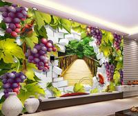 Пользовательский 3d mural обои 3D пейзаж зеленого винограда тв фон mural обои Украшение Дома