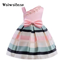 Elegant Sleeveless Flower Girl Dress Summer Baby Girls Princess Dress Kids Party Dresses For Girl Costume Children Clothing недорого