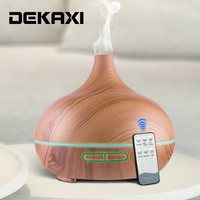 550ml Ultrasonic Air Humidifier Essential Oil Diffuser Aromatherapy Electric Aroma Diffuser With Remote Control For Home