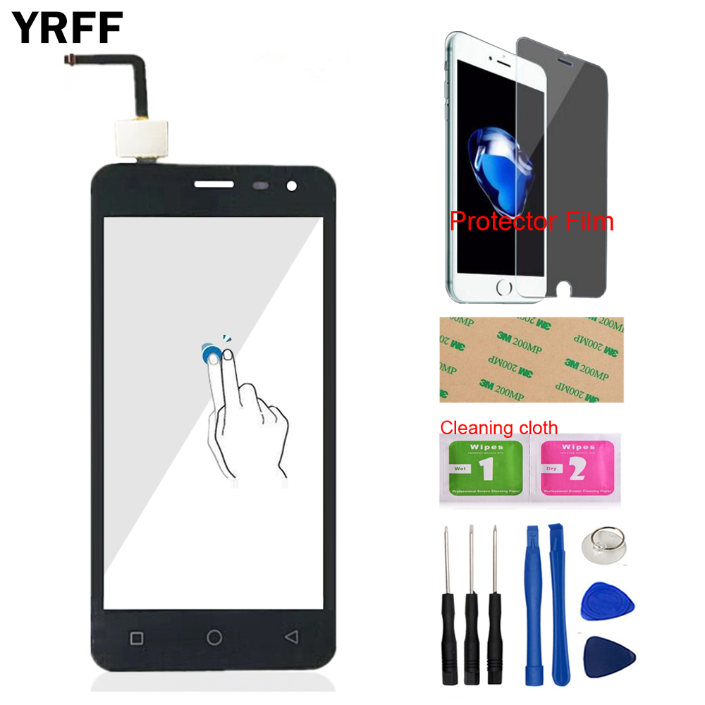 4.5 Mobile Front Glass Len Sensor For Micromax Canvas Pace Q415 Touch Screen Digitizer Panel Glass Protector Film Adhesive