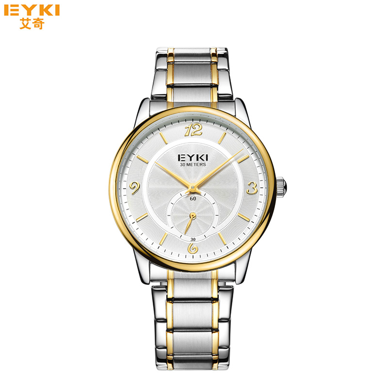 EYKI Mens Watches 2018 Top Brand Luxury Meskie Zegarki Big Dial Gold Watch Men Clock Waterproof Ultra Thin Minimalist Watch