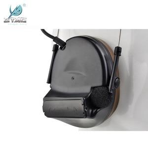 Image 4 - Ztac Peltor Tactical Headset Helmet PTT Active Hunting Comtac II Noise canceling Airsoft Acessorios Tactical Headphones  Z041