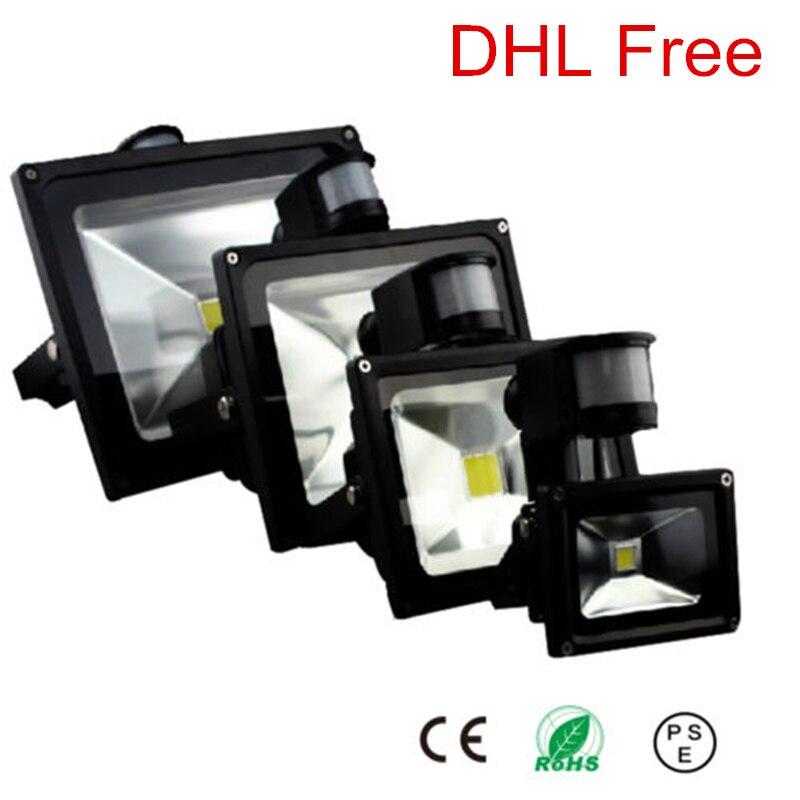 PIR 20W//30W//50W LED Flood Light With Motion Sensor Garden Outdoor Security Lamp