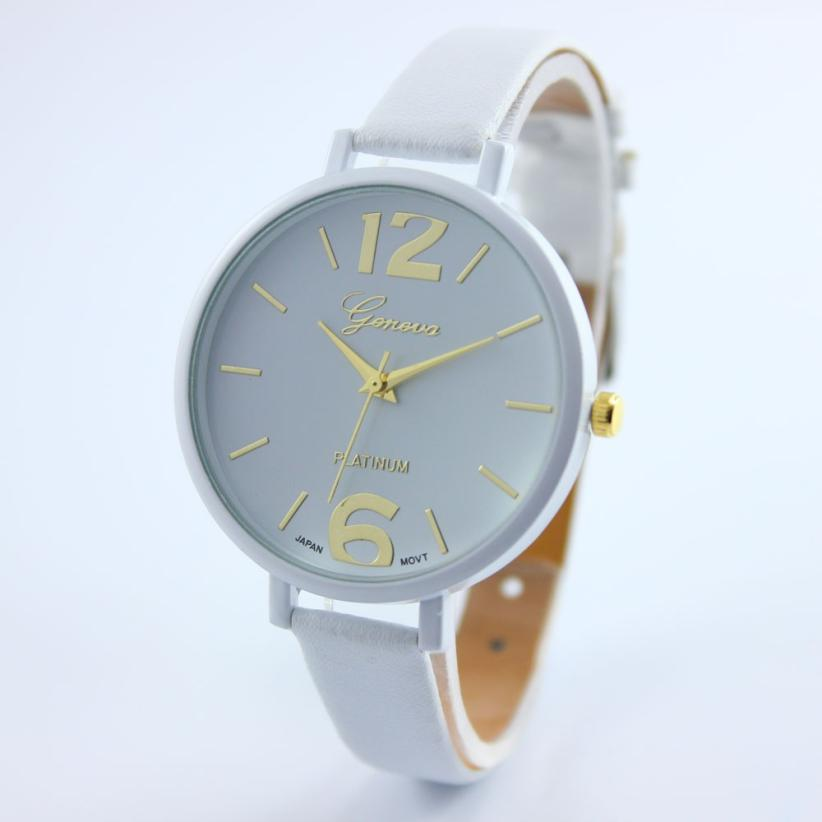 Quartz Wristwatches Fashion Women Faux Leather Analog Quartz Wrist Watch308 faux leather quartz wrist watch