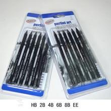 Купить Рекламные карандаши рисования карандашом набор Graphite эскиз Книги по искусству деревянные карандаши 2B HB 6 шт./компл. записи уголь офис школы карандаш