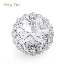 Wong Rain Vintage 100% 925 Sterling Silver Created Moissanite Gemstone Engagement Wedding Couple Rings Fine Jewelry Wholesale