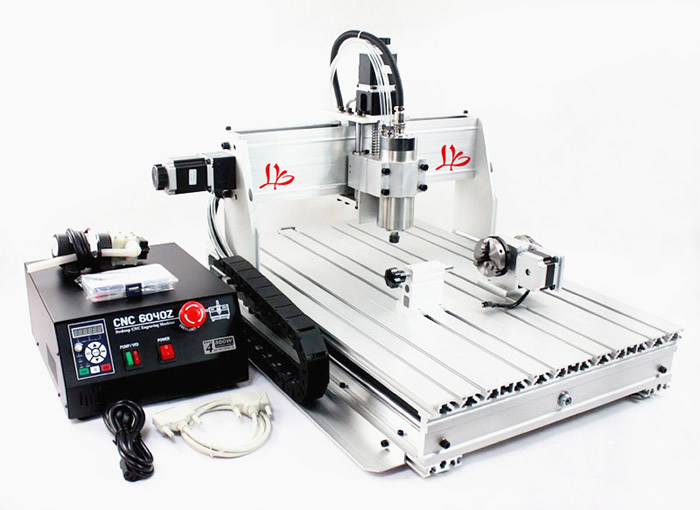 6040Z-S80 4 axis mini CNC milling lathe machine with rotary axis and 1.5KW spindle for metal/3D 110 220v 1500w 4 axis metal milling machine cnc 6040 with limit switch for metal wood cutting