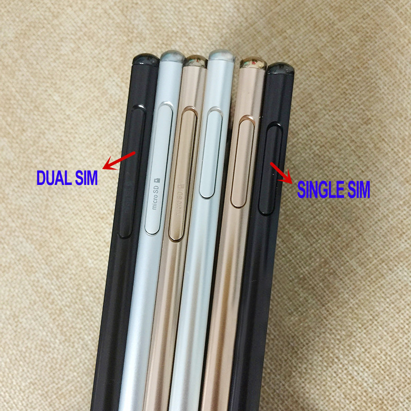 4 Colors 100% New Housing Metal Middle frame plate cover + side buttons ( Dual or Single SIM) For Sony Xperia Z4 Z3+ E6553 E6533
