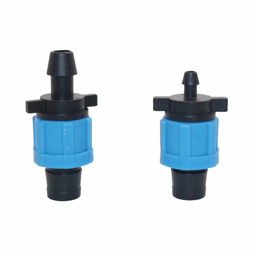 20 pcs Drip Tape 5/8 Lock Offtake Drip Irrigation Pipe Fittings Lock Nut Fitting For Irrigation water hose connector