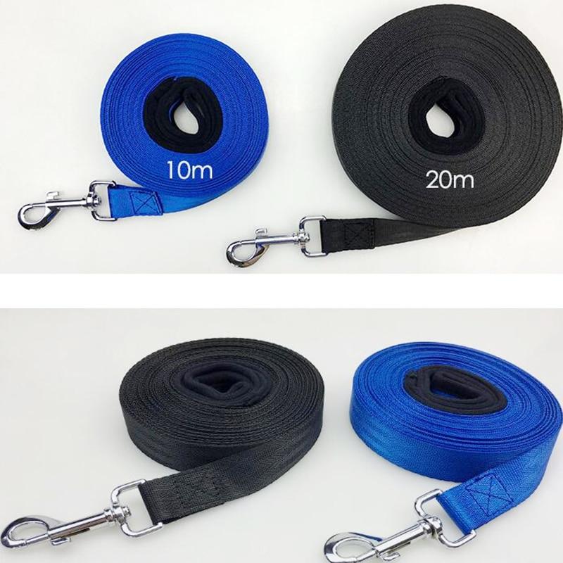 Купить с кэшбэком Pet Lead Leash for Dogs blue black Nylon 20 meters 10 meters training dog leash Walk Dog Leash Selectable Size Outdoor Security