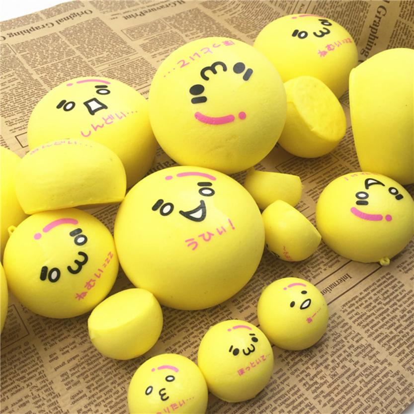 Halloween Toys Squishy Squeeze Stress Reliever Soft Face Yellow Bun Scented Slow Rising Toys AntistressToys For Kids #20
