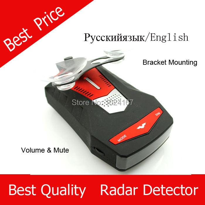 2015 Brand New V6 Voice Alerting car anti Radar Detector English& Russian Option car rdar detector with mounting bracket
