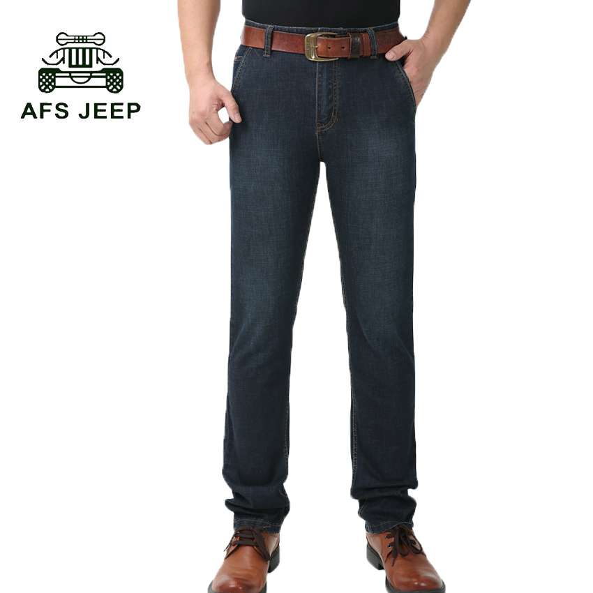 Afs Jeep 2017 new spring autumn jeans Man's causal fashion denim pants trousers Male  black blue slim fit denim pants 75z afs jeep autumn black jeans mens straight trousers fashion male jean casual long trousers man denim botton plus size 42
