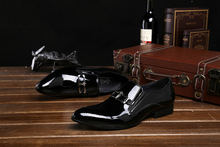 QYFCIOUFU 2019 luxury Handmade Men's formal shoes Patent Leather 100% Genuine Leather Fashion Casual Luxury Wedding Party shoes