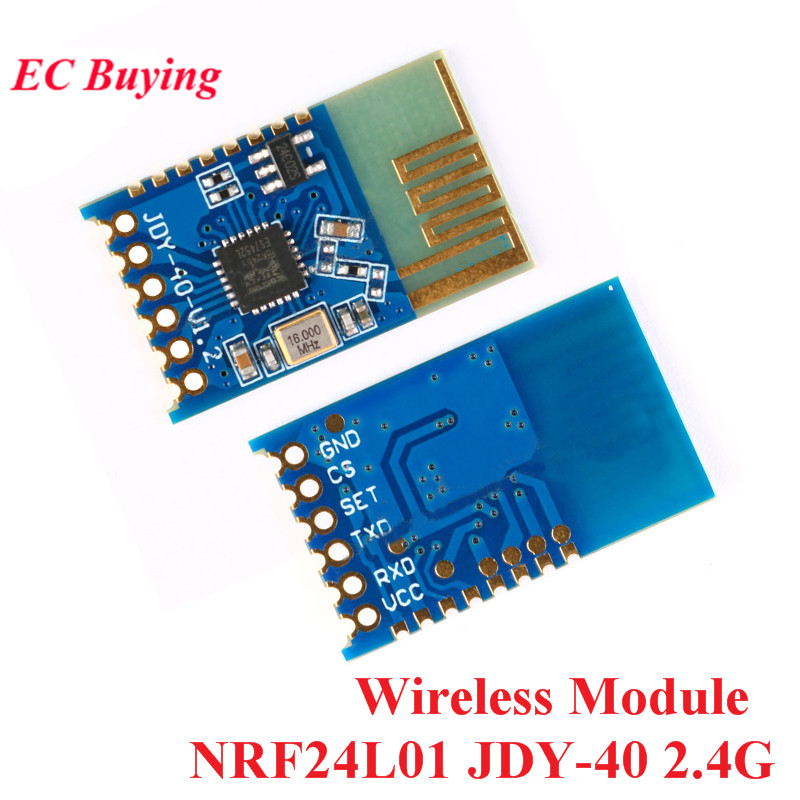 10pcs NRF24L01 JDY-40 2.4G Wireless Serial Port Transmission Transceiver Module Remote Communication IO TTL For Arduino10pcs NRF24L01 JDY-40 2.4G Wireless Serial Port Transmission Transceiver Module Remote Communication IO TTL For Arduino