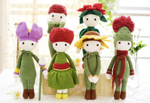 Flower system LALA doll Crochet knitting kit Milk Cotton Yarn pearl cotton  stuff Wool Knit Children 1406af459912