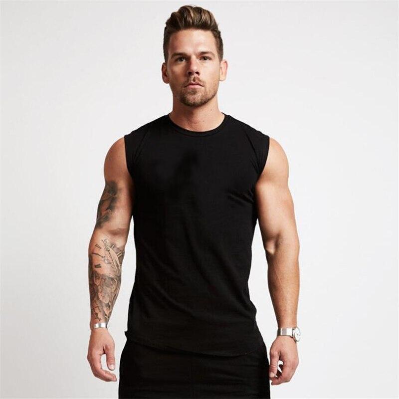 2018 turnhallen Workout Ärmelloses Shirt Tank Top Männer Bodybuilding Kleidung Fitness Herren Sportwear Westen Muskel Männer Tank Tops