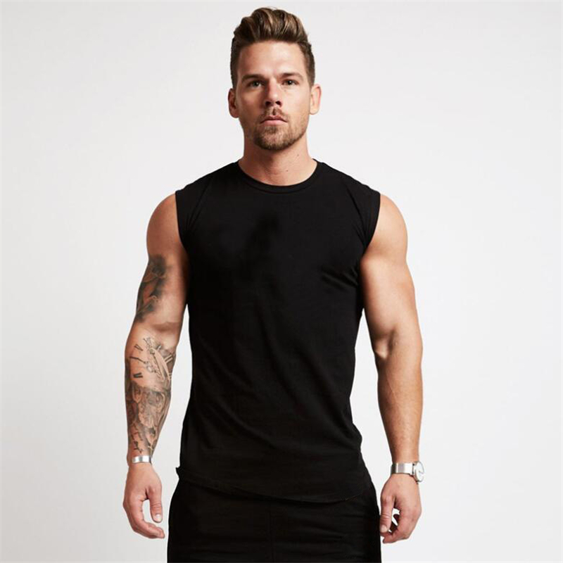 2019 Gyms Workout Sleeveless Shirt Tank Top Men Bodybuilding Clothing Fitness Mens Sportwear Vests Muscle Men Tank Tops