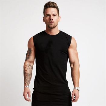 2020 Gym Workout Sleeveless Shirt Tank Top Men Bodybuilding Clothing Fitness Mens Sportwear Vests Muscle Tops
