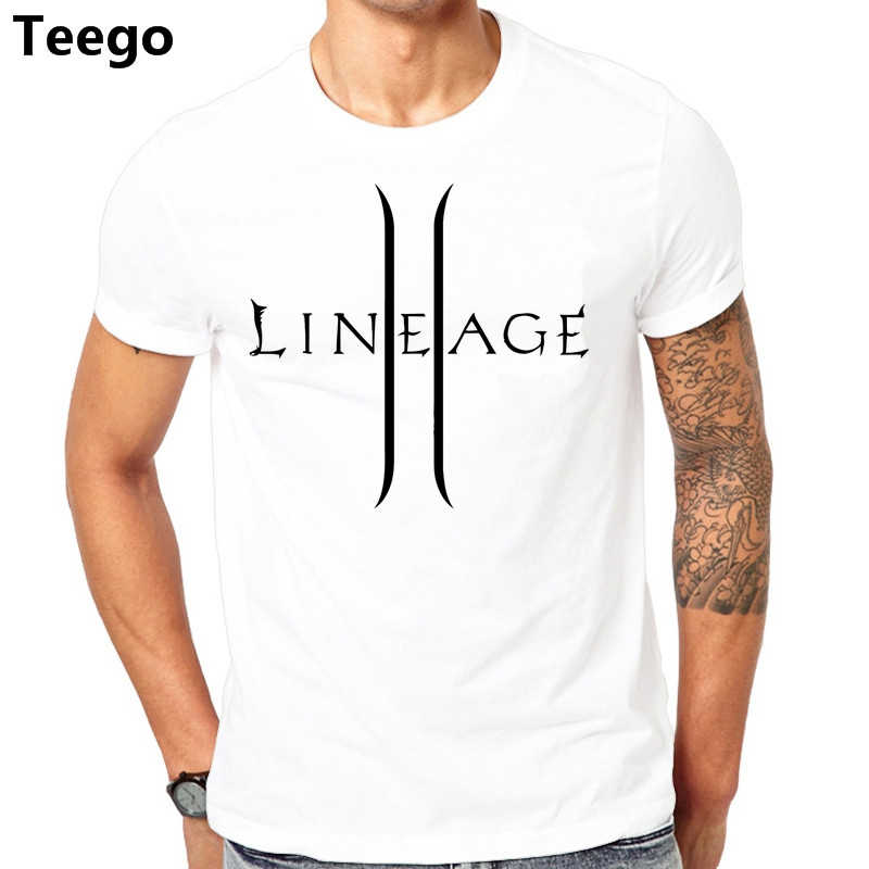 1db0bafcf Lineage 2 The Chaotic Throne T-shirt Cotton Men T shirt New Design