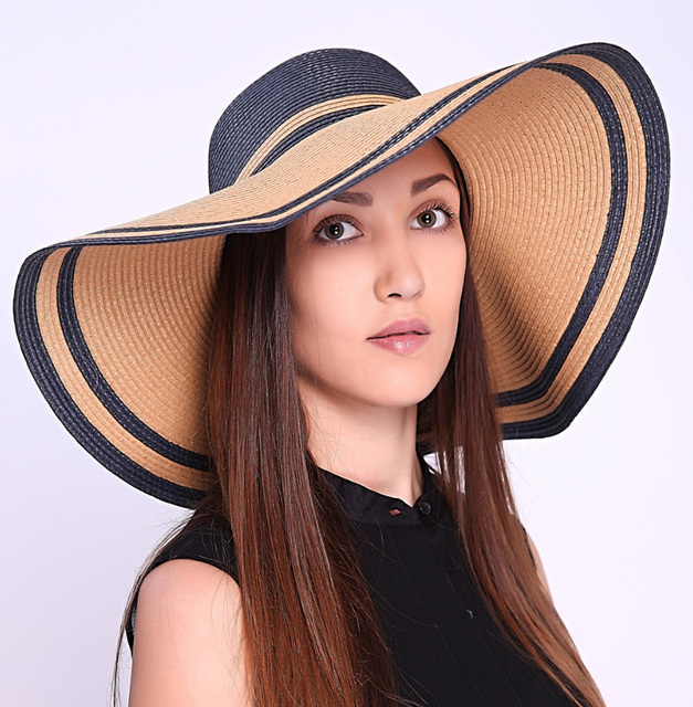 Summer Hats For Women Part - 21: Vancol 2015 Fashion Summer Hat For Women Straw Hat Bowknot Foldable Wide  Large Brim Patchwork Beach