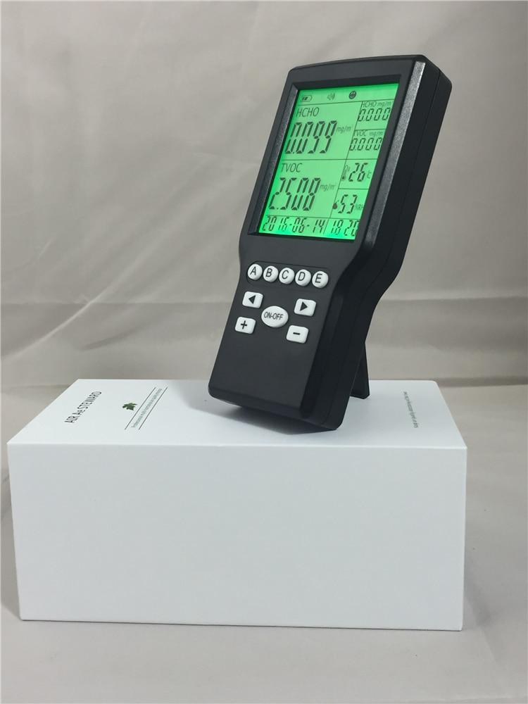 Hot selling indoor digital HCHO formaldehyde tvoc monitor with data tilly s moonlight fox
