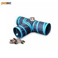 Petacc Foldable 1 Holes Cat Tunnel Kitten Cat Tunnel High Quality Brown Toy Bulk Cat Toys